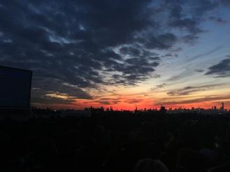 Rooftop Cinema club - Skyline at night